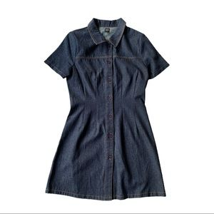 BDG Denim Contrast Stitch Mini Dress Size SP